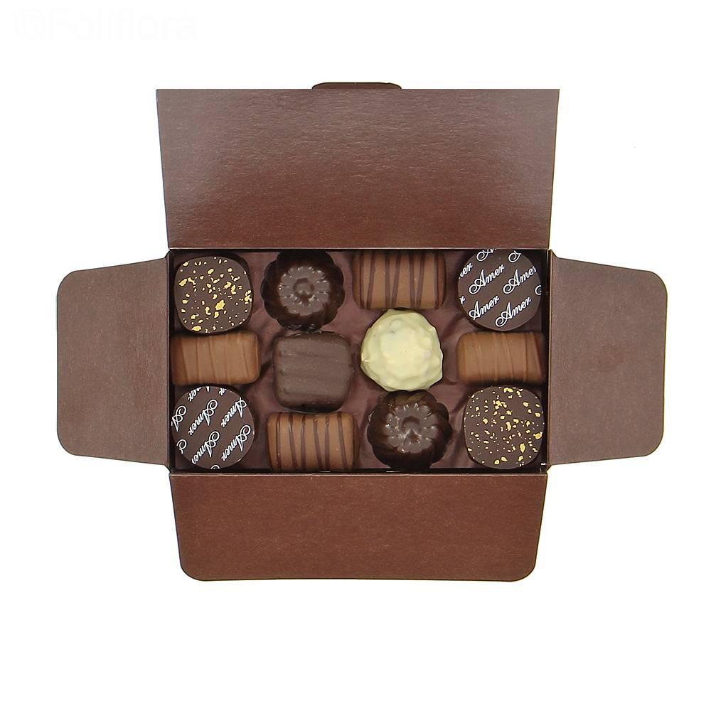 livraison ballotin de chocolats ballotin 165g chocolat foliflora. Black Bedroom Furniture Sets. Home Design Ideas
