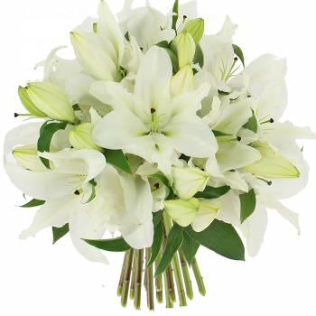 Deuil - Bouquet de Lys blanc