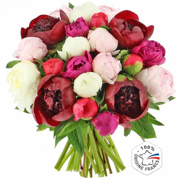 Livraison bouquet de pivoines bouquet de fleurs foliflora for Bouquet livraison