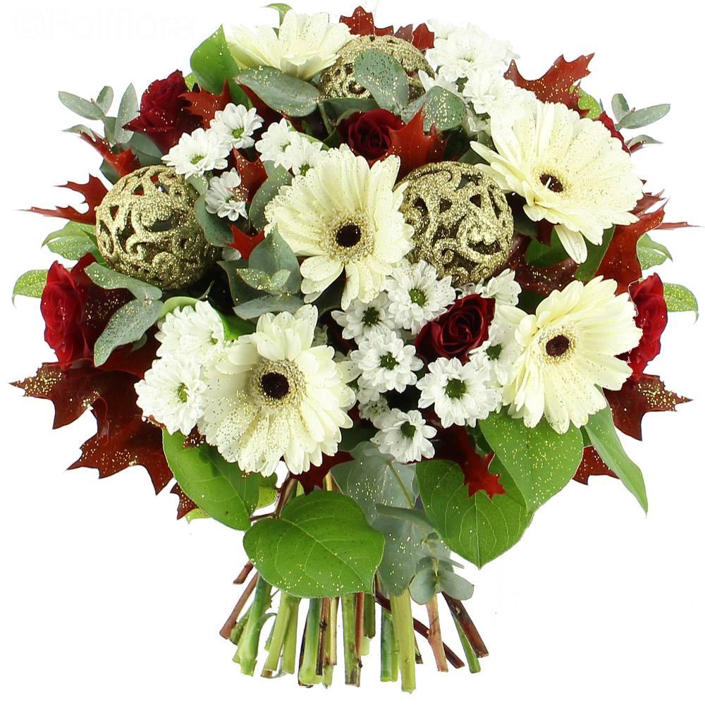Livraison joyeux no l bouquet de fleurs foliflora for Bouquet livraison