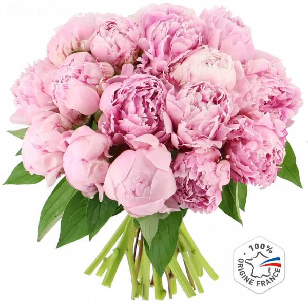 Livraison somptueuses pivoines bouquet de fleurs foliflora for Fleurs livrees