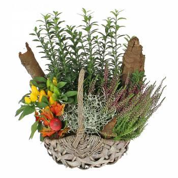 Composition florale - Panier d'automne