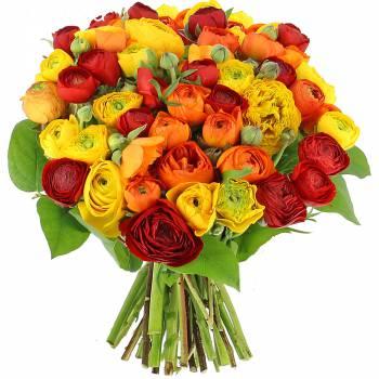 Bouquet de fleurs - Renoncules Flamboyantes