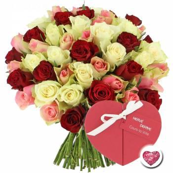 Tous les produits - Roses Tendresse + Coeur de Chocolats