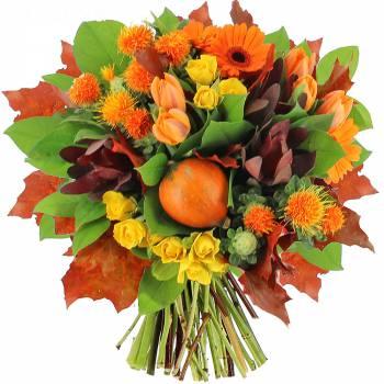 Bouquet de fleurs - Le bouquet Citrouille