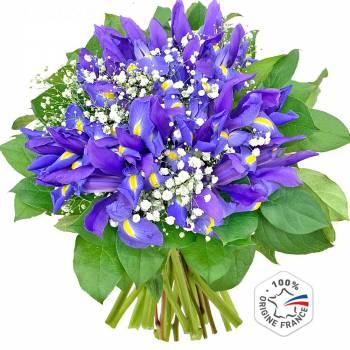 Envoi express : Bouquet d'Iris Van Gogh
