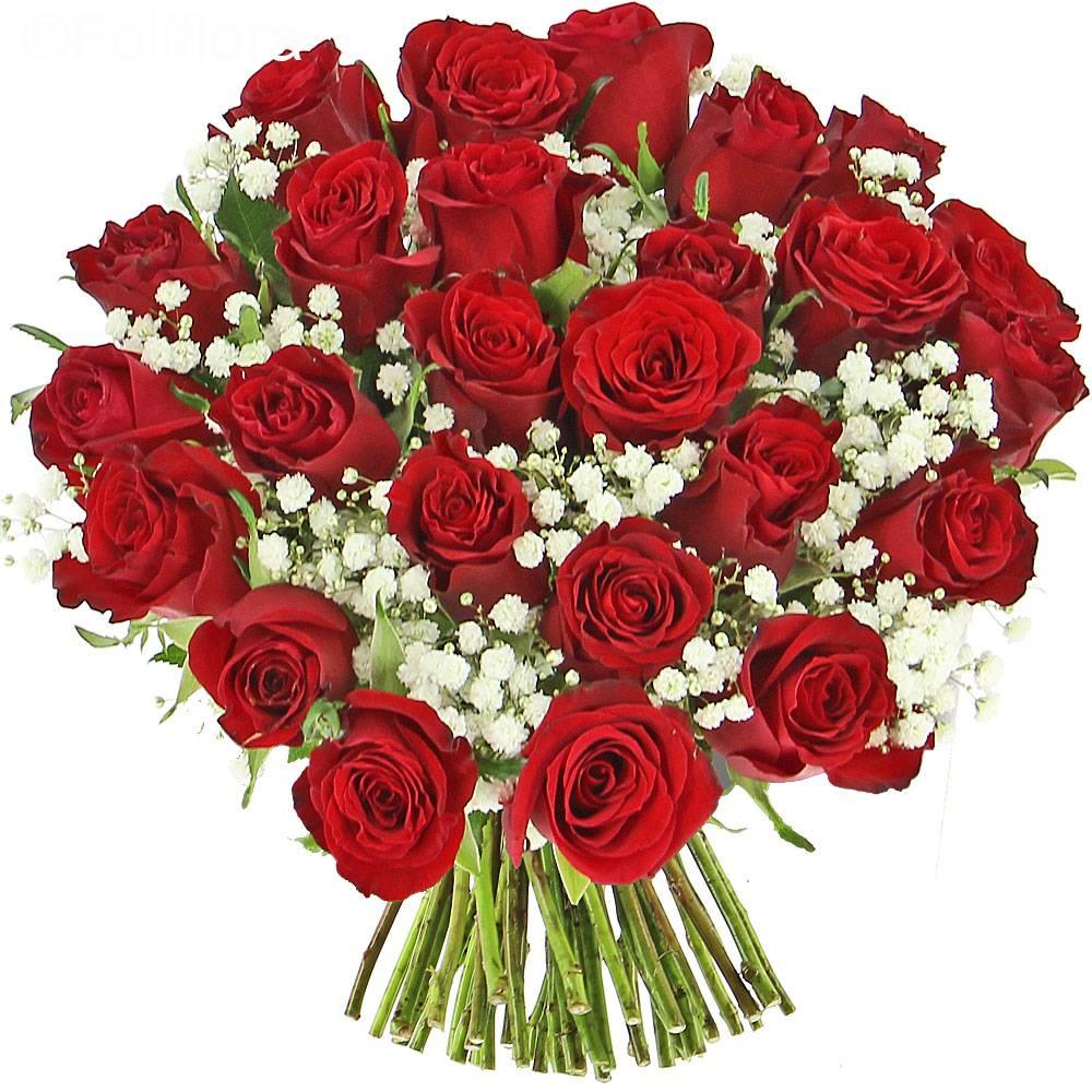 Livraison je t 39 aime classique bouquet de roses foliflora for Bouquet de rose