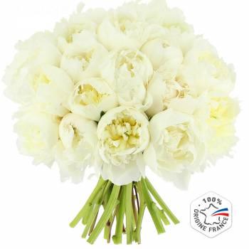 Bouquet de fleurs - Pivoines Blanches