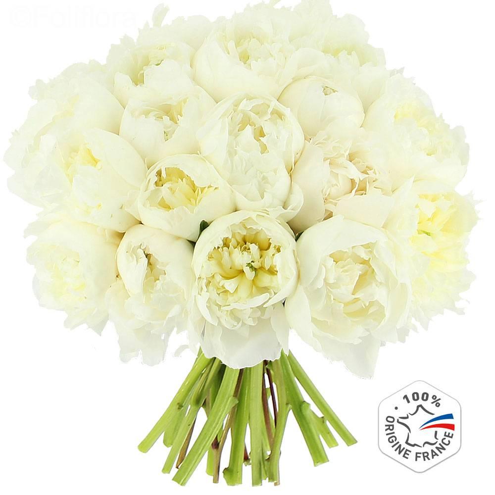 livraison pivoines blanches bouquet de fleurs foliflora. Black Bedroom Furniture Sets. Home Design Ideas