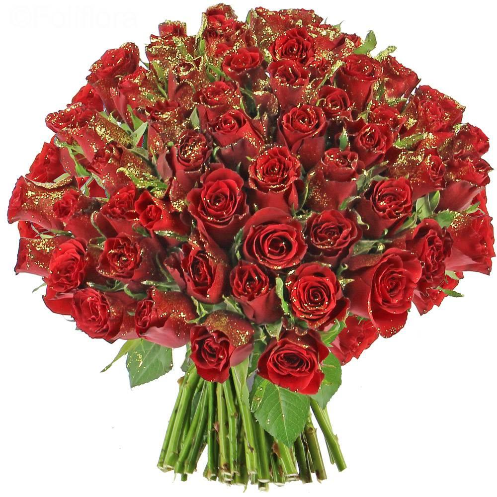 livraison roses de no l paillet es bouquet de roses foliflora. Black Bedroom Furniture Sets. Home Design Ideas