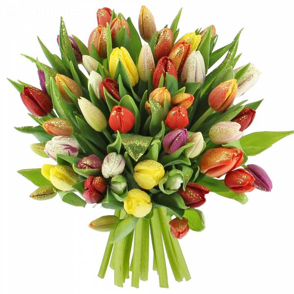 bouquet-tulipes-paillettes