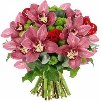 Bouquet de fleurs - Cymbidiums d'Amour
