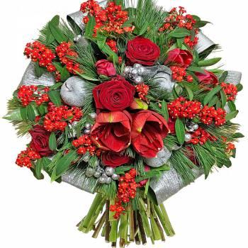Bouquet de fleurs - Santa Claus