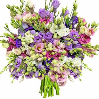 Bouquet de fleurs - Lisianthus Bigarres