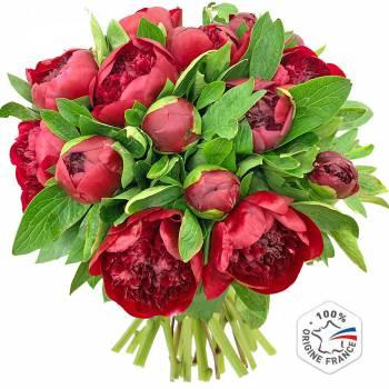 Bouquet de fleurs - Pivoines Red Charm