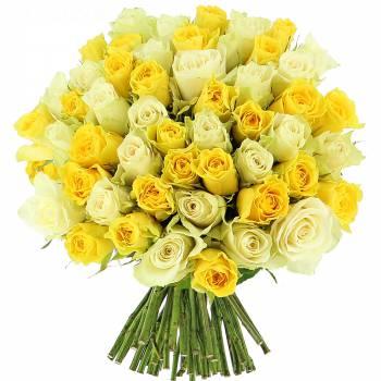 Envoi express : Roses Citronnées - 25 Roses