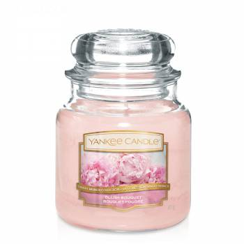 Envoi express : Bougie Yankee Candle - Blush Bouquet - Moyenne Jarre (411g)