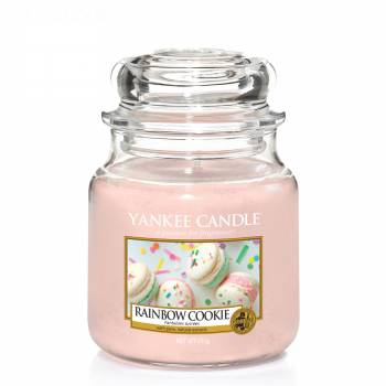 Envoi express : Bougie Yankee Candle - Rainbow Cookie - Petite Jarre (104g)