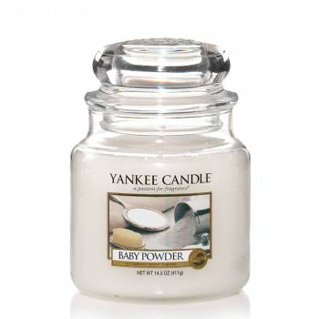 Livraison express : Bougie Yankee Candle - Baby Powder - Petite Jarre (104g)